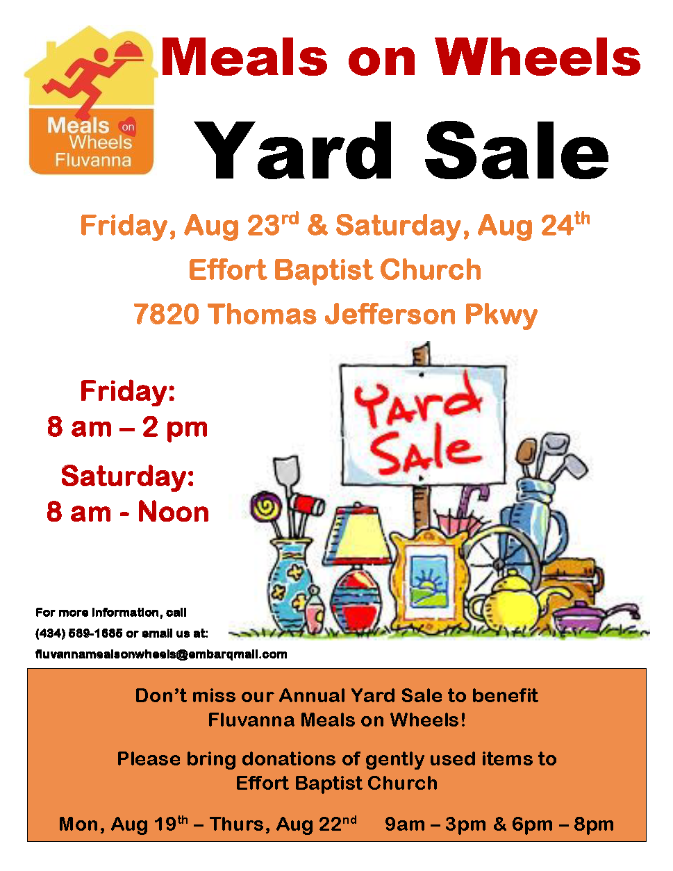 Yard Sale flyer 2019